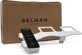 BELMAN Classic Bidet Toilet Attachment - Modern & Slim - Fresh Clean Water Sprayer - Self Cleaning Dual Wash Nozzles - Adj...