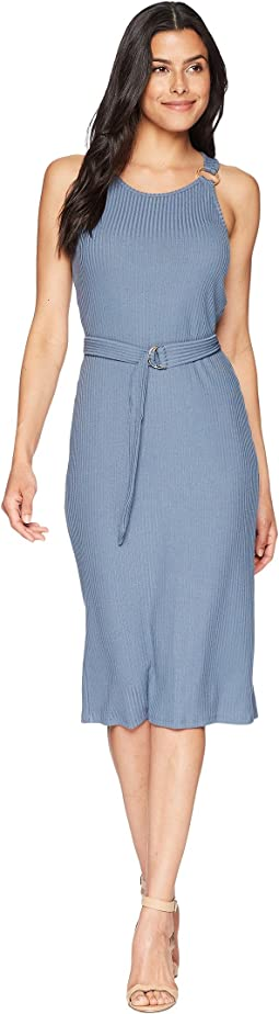 Rib Circle Trim Dress