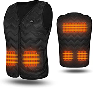 WELOOC Heated Vest Outdoor Sports USB Charging Heating Jacket Vest, Lightweight Heated Clothing for Men&Women