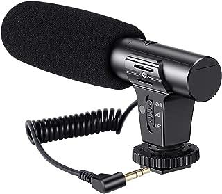 カメラマイク 外付けマイク アップグレード版-mic05 Emiral インタビューマイク マイク 高音質 小型軽量 Nikon/Canon/SONYカメラ/DVDVカメラ