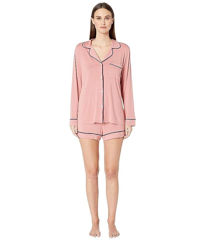 Eberjey Gisele Long Sleeve Short and PJ Set (Old Rose/Northern Lights) Women
