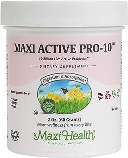 Maxi Health Active Pro-10 - Non Dairy Probiotic - Healthy Digestive Flora - 2 Ounce Powder - Kosher