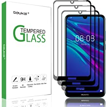 (3 Pack) Beukei for Huawei Y6 2019 and Y6 Pro 2019 and Honor 8A Screen Protector Tempered Glass,Full Screen Coverage, Anti...