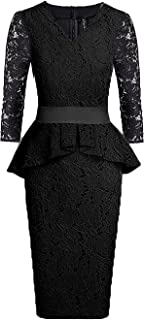 peplum short gown styles