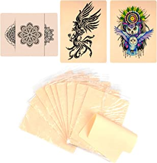 10 X Blank Tattoo Skin Double-sided Practice Fake Skin, Portable Tattooing and Microblading Eyebrow Practice Skin for Begi...