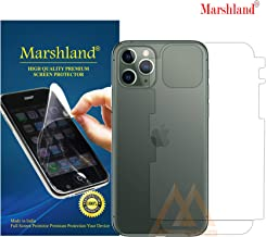 MARSHLAND 3D Full Cover Back Screen Protector Flexible Design Anti Scratch Bubble Free TPU Back Screen Guard Compatible for Iphone 11 Pro Max (6.5,Transparent)