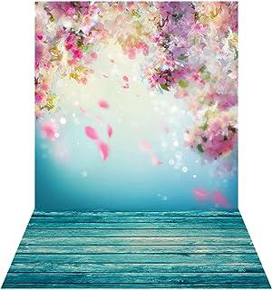 Fondo de fotografía BDDFOTO de 1,5 x 2 m de fondo floral para fotos, recodificación de vídeo, Live online, fotografía de e...