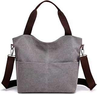 SGJFZD Women's Handbag Large-Capacity Waist Bag Messenger Bag Shoulder Bag Messenger Bag Fashionable Tote Bag Canvas Shopping Travel Laptop Bag for Ladies Wallet Storage Bag (Color : Gray)