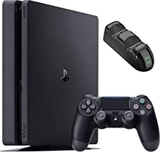Sony Playstation 4 1TB Console - Black PS4 Slim Edition with 1TB Storage, one DS4 Wireless Controller and GalliumPi Dual P...
