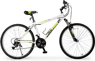 Murtisol Mountain Bike 26'' Hybrid Bike with Front/Full Suspension, 18 Speeds Derailleur, Designed Heavy-Duty Kickstand, Adjustable Seat in 4 Colors (Green White)