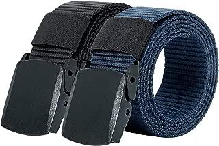 Hoanan 2 Pack Military Nylon Belt, 1.25