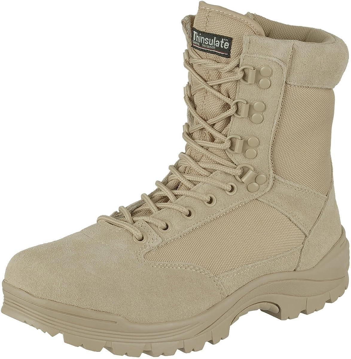 Mil-Tec Tactical Side Zip Boots Khaki Size 11 US