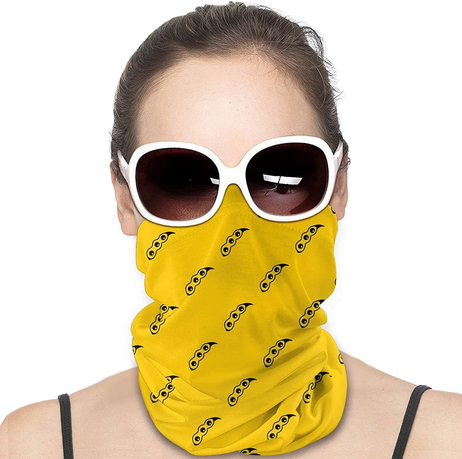 The Matured Soybean Pattern Seamless Round Neck Gaiter Bandnas Face Cover Uv Protection Prevent bask in Ice Scarf Headbands Perfect for Motorcycle Cycling Running Festival Raves Outdoors