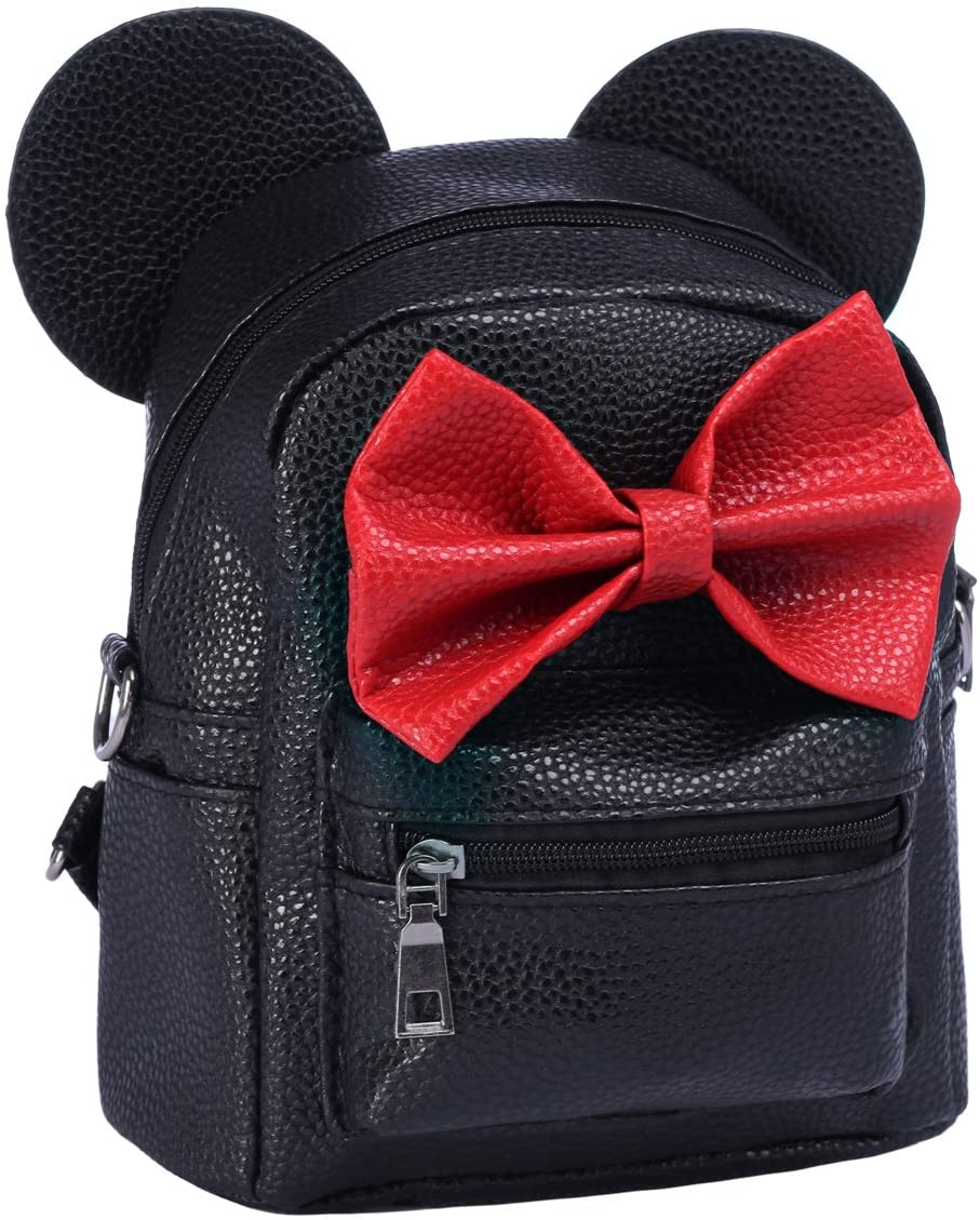 Women Popular Department store products Kids Girls Cartoon PU Leather Bow Backpack Shoul Mouse Ear