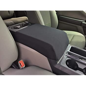 Car Console Covers Plus Made in USA Faux Leather Center Armrest Console Cover fits Ford F150 F250 F350 2014-2020 Your Console Lid Should Match Photo Shown C1F Black