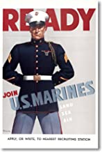 Ready - Join Marines - Vintage Reproduction Poster
