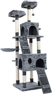 SnnimSpeedy Pet キャットタワー グレー 据え置き 高さ176cm 爪とぎグレー