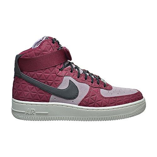 NIKE Womens Air Force 1 Hi Premium Black/Black Gum Med Brown Sail Basketball Shoe