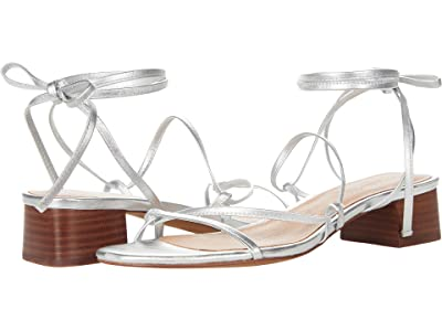 Madewell Jamie Lace-Up Sandal in Metallic