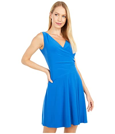 LAUREN Ralph Lauren Petite Katadara Sleeveless Day Dress (Portuguese Blue) Women