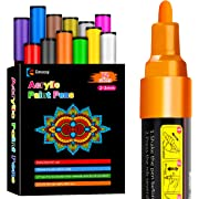Acrylic Paint Pens, Emooqi Set of 12 Pcs Paint Markers Pens for Rocks, Craft, Ceramic, Glass, Wood, Fabric, Canvas -Art Crafting Supplies, Opens in a new tab
