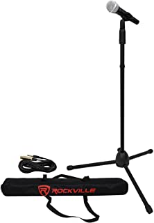 Rockville Pro MIc Kit 1 - High-End Metal Microphone+Mic Stand+Carry Bag+Cable