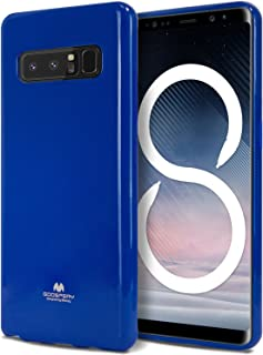 Goospery Pearl Jelly for Samsung Galaxy Note 8 Case (2017) Slim Thin Rubber Case (Navy Blue) NT8-JEL-NVY