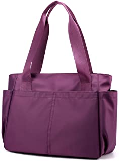Carry On Travel Duffle Bag Packable Luggage Travel Gear Sports Gym Bags Lightweight Tote Shoulder Pack (Purple)