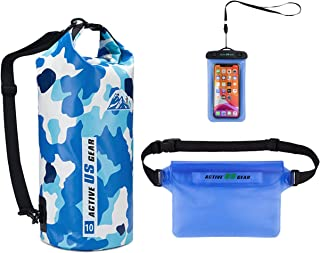 Active US Gear Dry Bag Set – Heavy-Duty Waterproof Floating Pack with Touch-Friendly Phone Case and Waist Pouch - Lightwei...