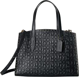 Signature Leather with Border Rivets Charlie Carryall