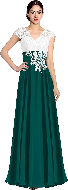CladiyaDress Women Short Sleeves Prom Dress Formal Gowns C040LF