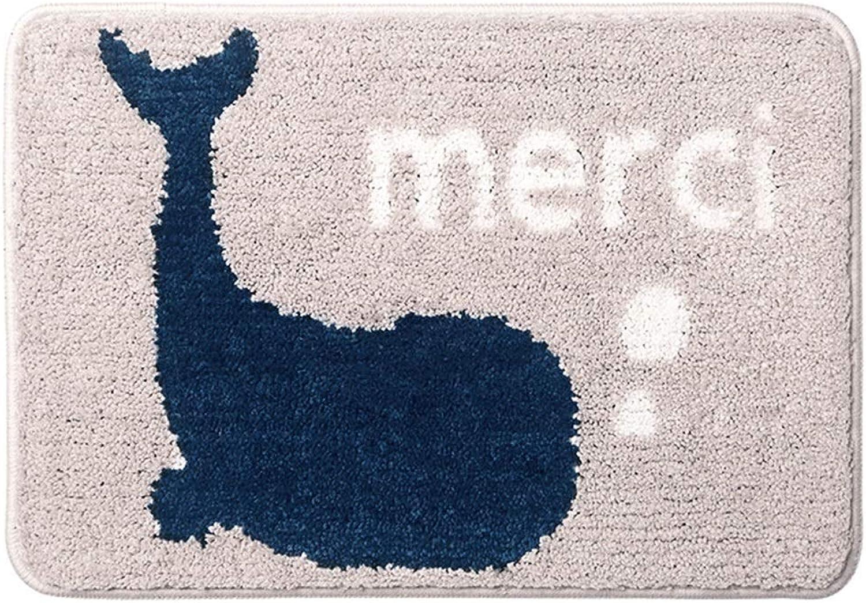 Door mat Floor mat - Fiber Fabric, Dense Fluff, Non-Slip Absorbent, Soft Skin-Friendly, lint-Free, Rectangular Household Bathroom Bedroom Absorbent Door mat Foot mat mat - 2 colors 2