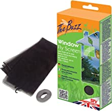 The Buzz Window Fly Screen 1.3 x 1.5m (Washable Barrier Mesh, Protects Homes from Insects and Flies)