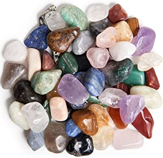 Digging Dolls: 3 lbs Tumbled Natural Brazilian Stone Mix - Over 35 Stone Types - Medium - 1