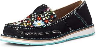 Ariat Cruiser - جلد نسائي، جلد سويدي، مستوحى من الغرب، حذاء سهل الارتداء
