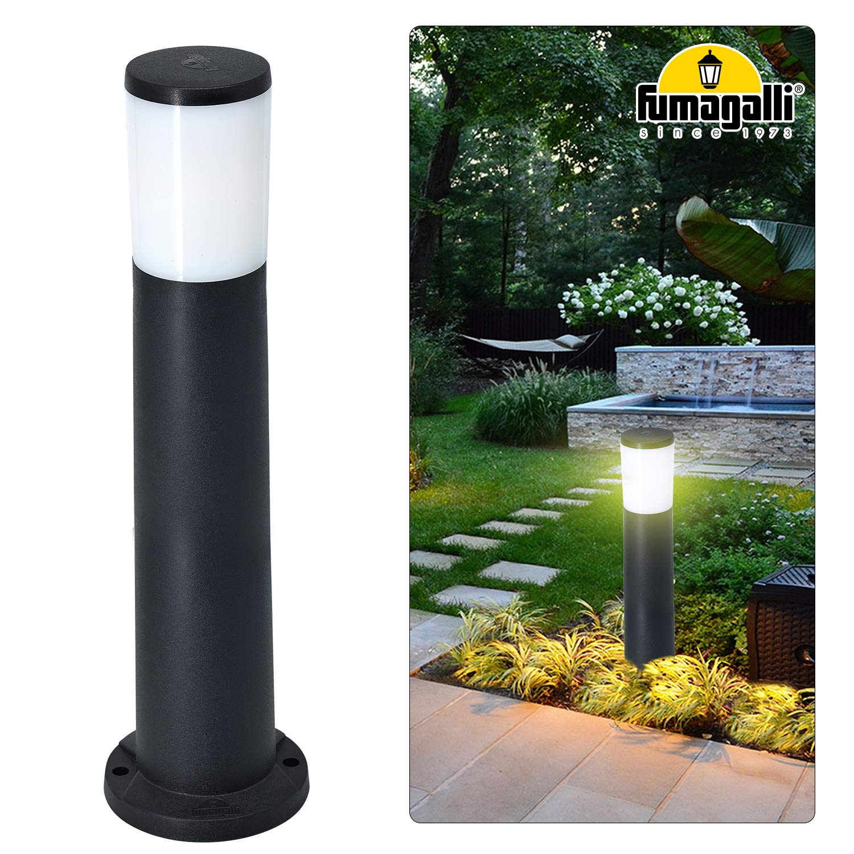 Lámpara de pie para exteriores, 80 cm (alto), para jardín, iluminación IP55, A++, incluye una bombilla de 12 W y 1500 lm, luz blanca cálida, E27: Amazon.es: Iluminación