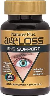 NaturesPlus AgeLoss Eye Support - 60 Vegetarian Capsules - Eye Vitamins & Minerals Supplement with Lutein, Astaxanthin & Z...