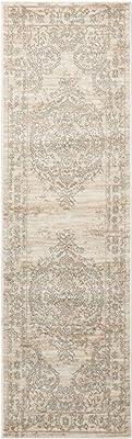 Alfombra con Terra Vintage gris clásico de aspecto envejecido salón tradicional Rugs