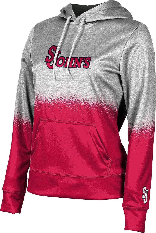 St. Johns University Girls' Pullover Hoodie, School Spirit Sweatshirt (Spray Over)