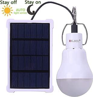 KK. Bol Solar lámpara portátil luz LED Bombilla Panel Solar con batería solar LED lámpara de luces para el hogar luz interior luz de emergencia al aire libre senderismo tienda de campaña Camping noche luz de trabajo