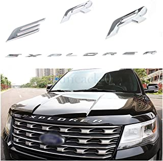 Exotic Store F-ERS 2011-2017 3D Metal (not plastic) Fit for Ford Explorer Sport Chrome Black Front Hood Emblem Letters Badge Decal (Chrome)