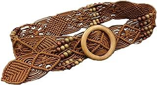Cinlan Women's Bohemian Style Rope Braid Waist Belt