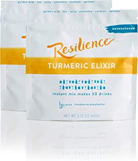 Bija Bhar Resilience Turmeric Elixir 30 Drink Pouch, Unsweetened, 2.12oz, Pack of 2