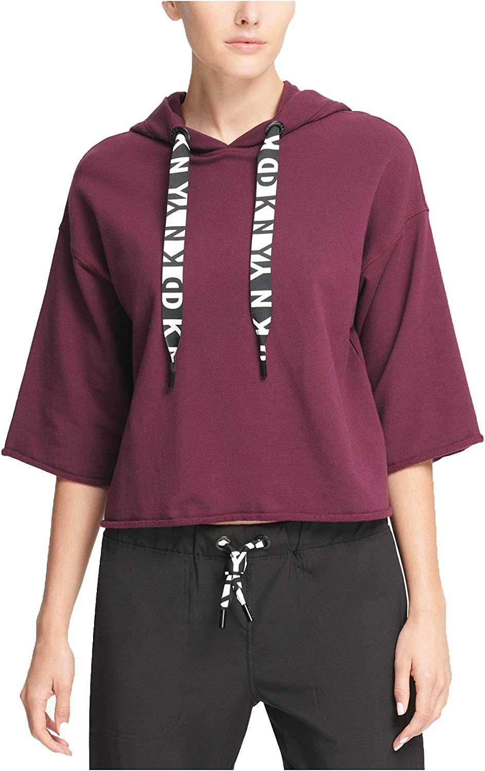 DKNY Women's Challenge the lowest price Sport Hoodie Relaxed Popular product Cropped