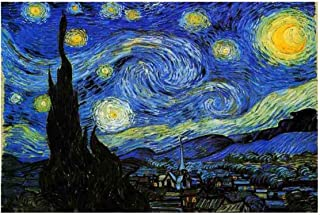 Jigsaw Puzzles 1000 Pieces Starry Night Vincent Van Gogh Artwork Art for Teen Adult Grown Up Puzzles Large Size Toy Educational Games Gift Jigsaw Puzzle Jigsaw Puzzle 1000 PCS