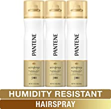 Pantene Hairspray, Smooth & Soft Finish, Pro-V Level 3 Airspray, Humidity Resistant, 7 Oz, Pack of 3