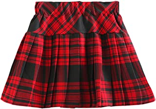 toddler red plaid skirt
