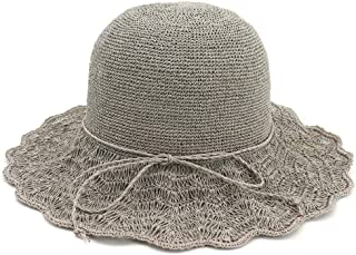 Sun Hat for men and women Straw Hat Foldable Out Sun Hat Sunscreen Fisherman Hat Bow Special Fine Hand Crochet Fine