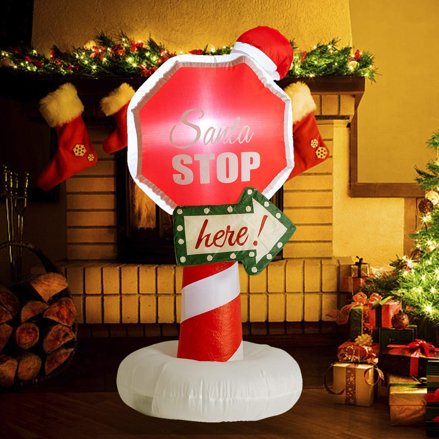 Bestmart Beauty products Christmas Inflatable Decoration 4 Special price for a limited time Stop Santa with FT Bu