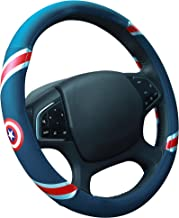 ZJWZ Steering Wheel Cover Cartoon Leather Four Seasons Universal Steering Wheel Cover Universal Size 37-39Cm,Blue